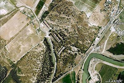 Vista aérea del Rancho de La Bola