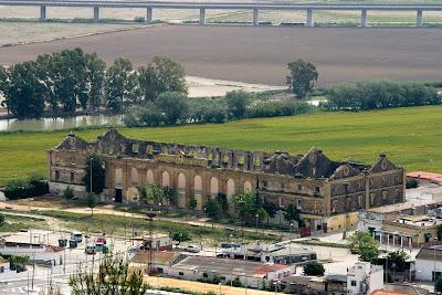 Vista de la antigua Azucarera del Guadalete