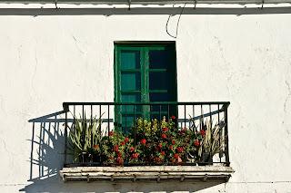 Cortijo de 'Ducha. Detalle de la fachada