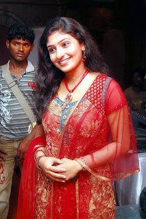Monica in Red Churidar Spotted looking Spicy Monica