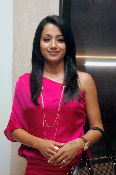 trisha spotted in pink at a event actress pics