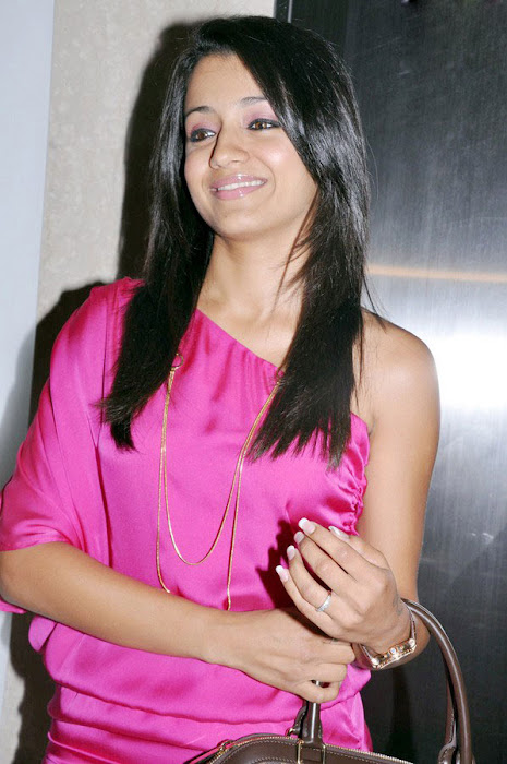 trisha spotted in pink at a event hot photoshoot
