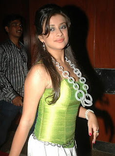 Madhurima in Sleeveless Green Tight Top Spicy Photos at an event