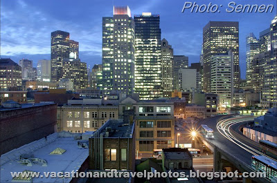 Downtown by Night, San Francisco, California, USA