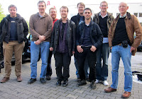 Essen Spiel 2010 - Day 4 The team just before we head home - Rob, Phil, Simon, Ian, Daniel, Paul, Ben and me