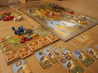 A game of Stone Age near the end