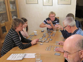Ben clarifying a point during a game of Dominion