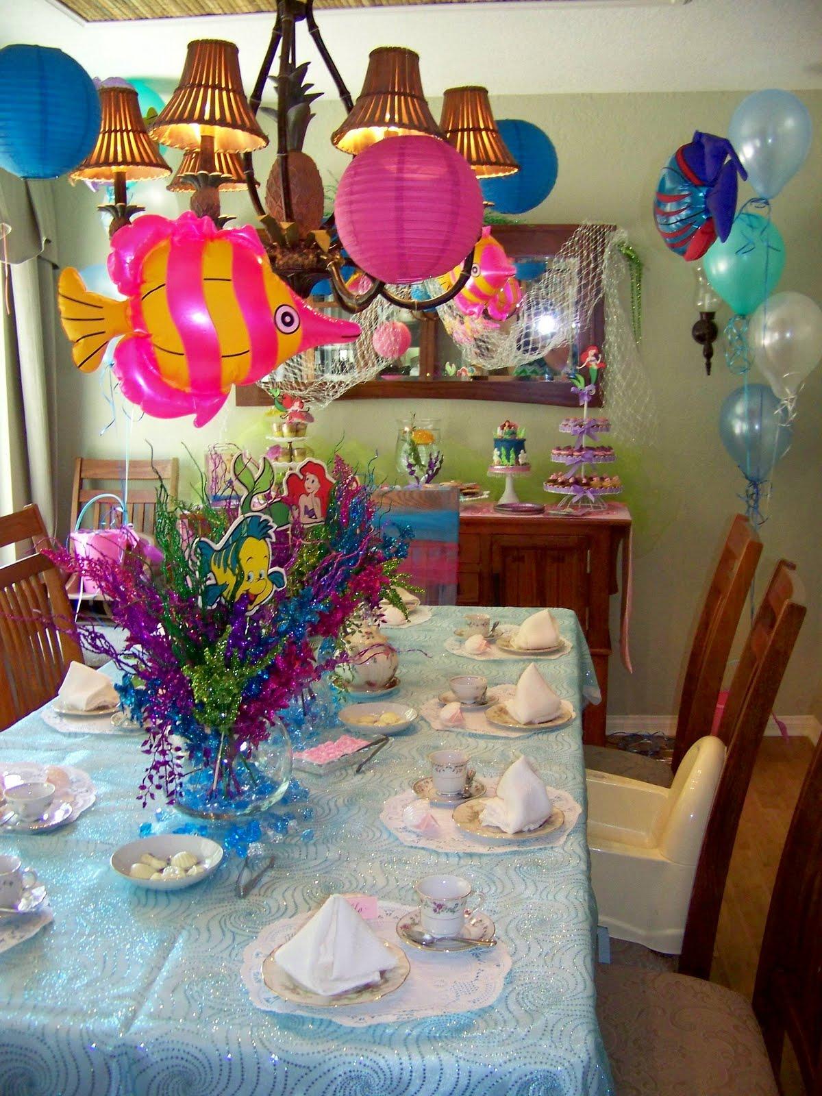 Plumeria cake studio under the sea tea party for Ariel decoration party