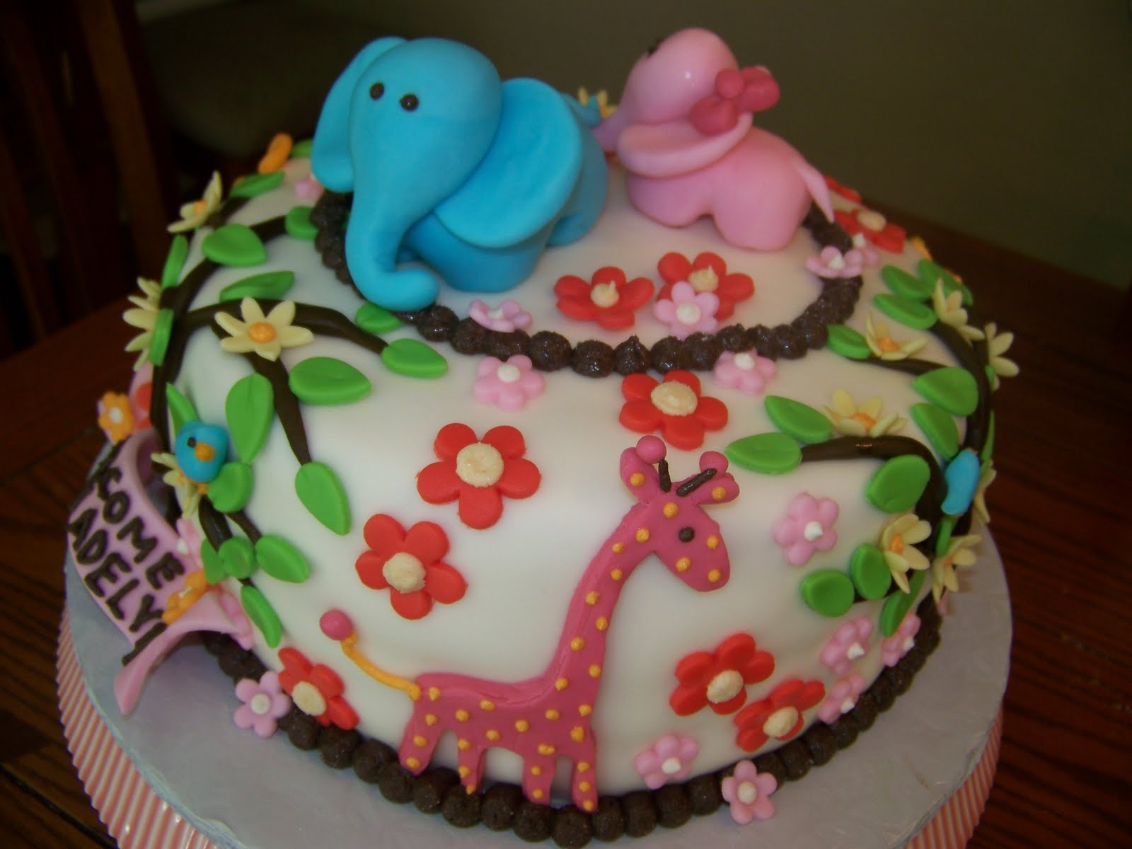 plumeria cake studio jungle baby shower cake