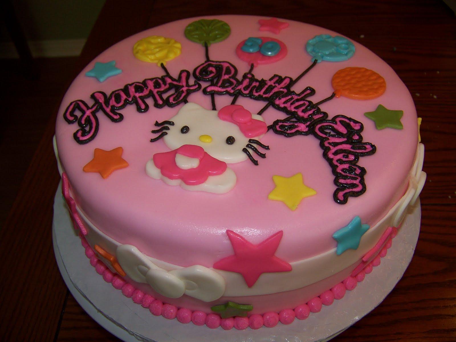 Cake Hello Kitty Birthday : Plumeria Cake Studio: Hello Kitty Birthday Cake