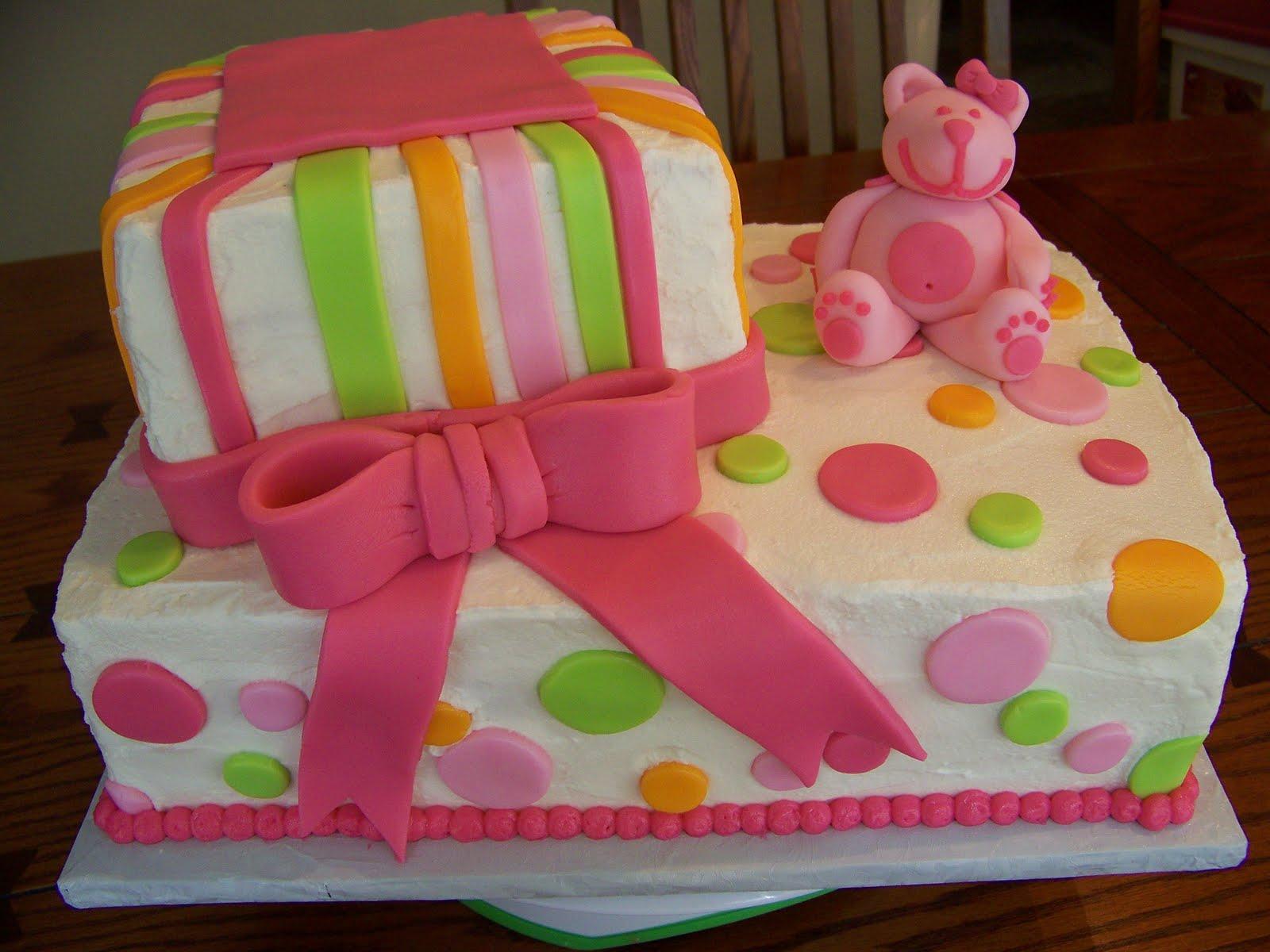 Plumeria Cake Studio Teddy Bear Baby Shower Cake