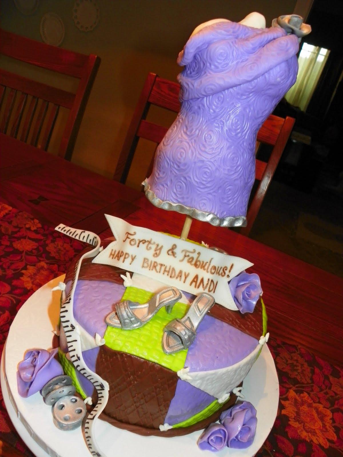 Plumeria Cake Studio Sew Fabulous 40th Birthday Cake