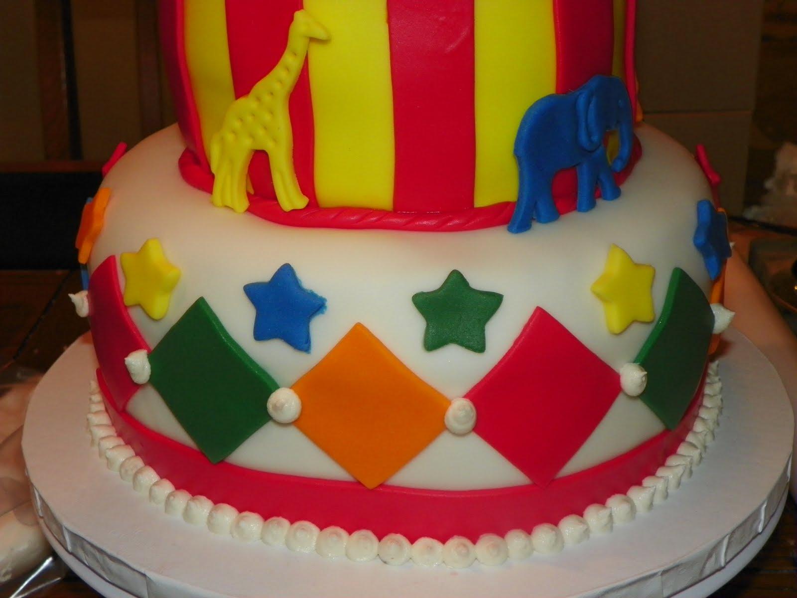 Circus Tent Birthday Cake u0026 Cupcakes & Plumeria Cake Studio: Circus Tent Birthday Cake u0026 Cupcakes