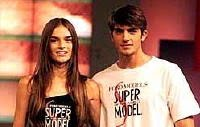 2002 - With Liliane Ferrarezi: winners of the Ford-Brazil Model Search