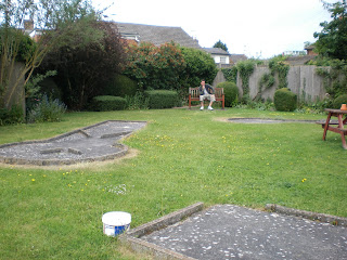 Crazy Golf in the beer garden at The Dolphin Pub in Melbourn