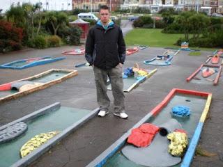 Crazy Golf course at Gynn Gardens in Blackpool