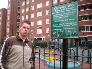 Clarence Way Crazy Golf course in Camden, North London