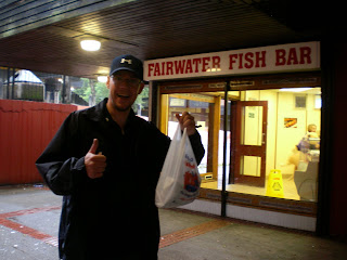 Gluten free fish and chips at the Fairwater Fish & Chip Bar in Cwmbran