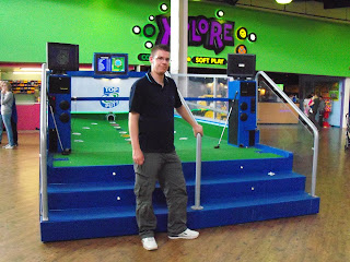 TopPutt indoor golf Putting machine at Xscape Yorkshire in Castleford