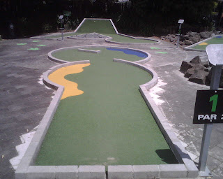 Tee-Rex Alley at Lilliputt Mini Golf in Auckland, New Zealand