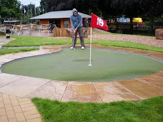 Adventure Golf course at St Nicholas Park in Warwick
