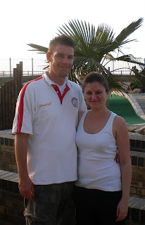 Richard and Emily Gottfried at Strokes Adventure Golf course on Westbrook Promenade in Margate