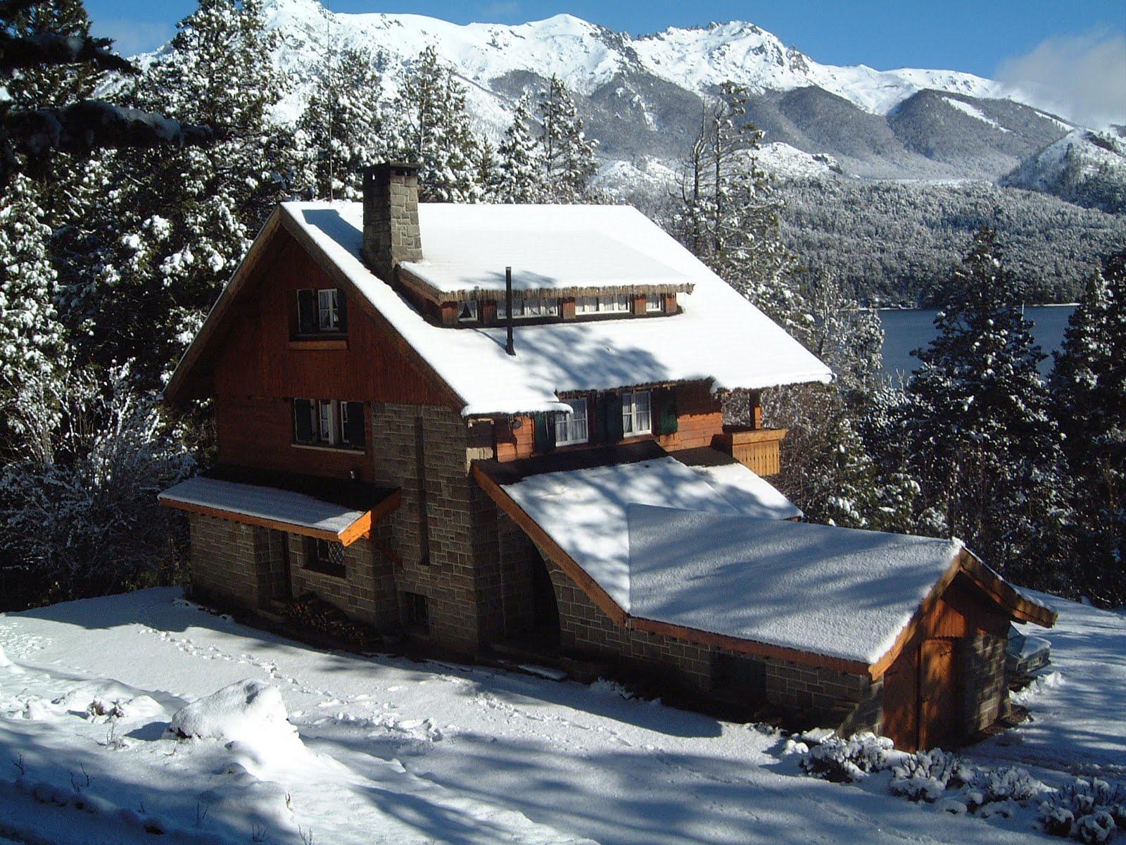 casa ruca lafquen bariloche casa en invierno