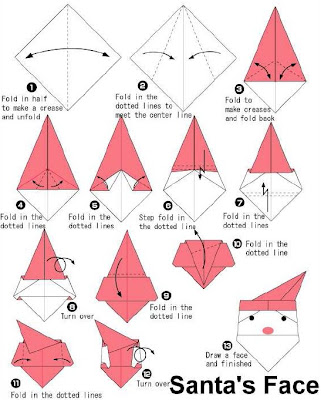 how to make origami how to make santa face origami