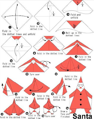 How To Make Origami How To Make Santa Origami