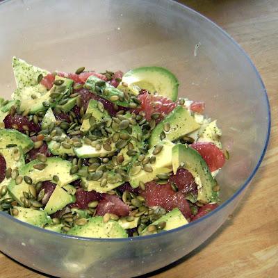 ... kale: Jicama, Grapefruit and Pepita Salad with Cilantro-Lime Dressing