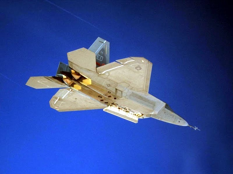 F-22 Raptor from below