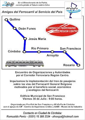 Corredor ferroviario Región Centro