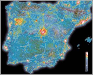 contaminacion luminica na peninsula