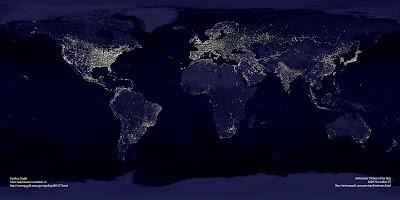 contaminacion luminica no mundo
