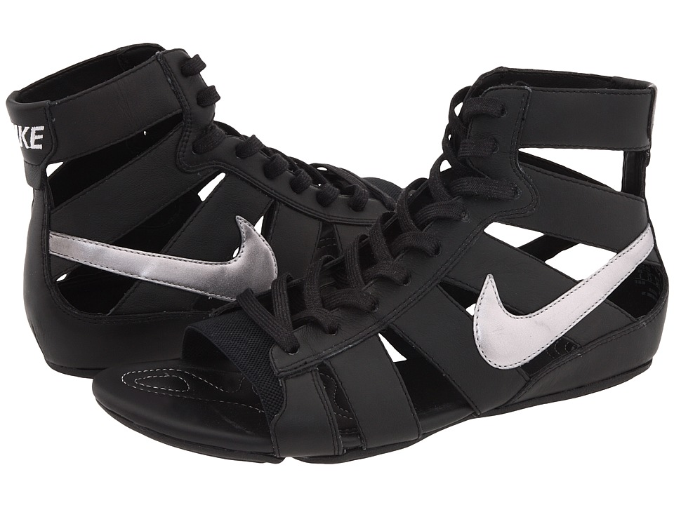 950835193 Nike Gladiator Md Sandals Black White ~ Long Gladiator Sandals