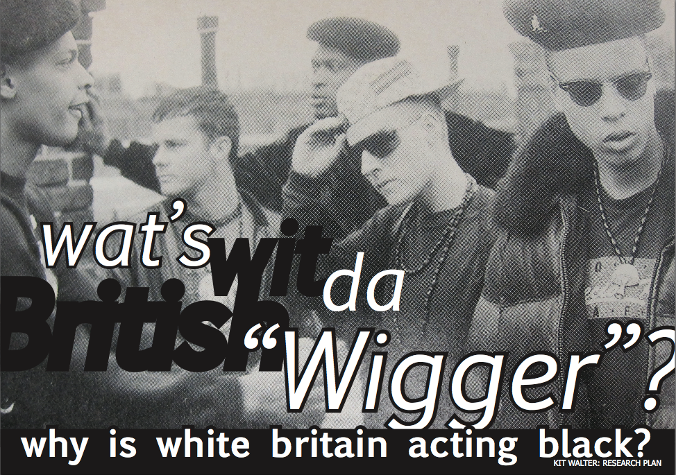 Why white boys dress like black boys: a study of the British Wigger Progress map