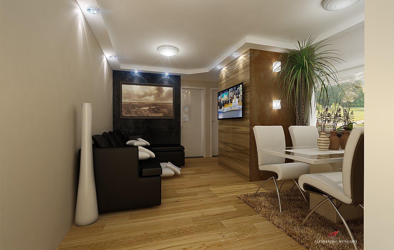 Fotos De Sala De Estar Apartamento ~ Arquitetura e Interiores Sala de Estar TV e Jantar para apartamento