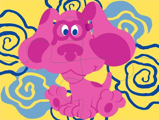 Kids cartoon gallery blues clues coloring for Blues clues magenta coloring pages
