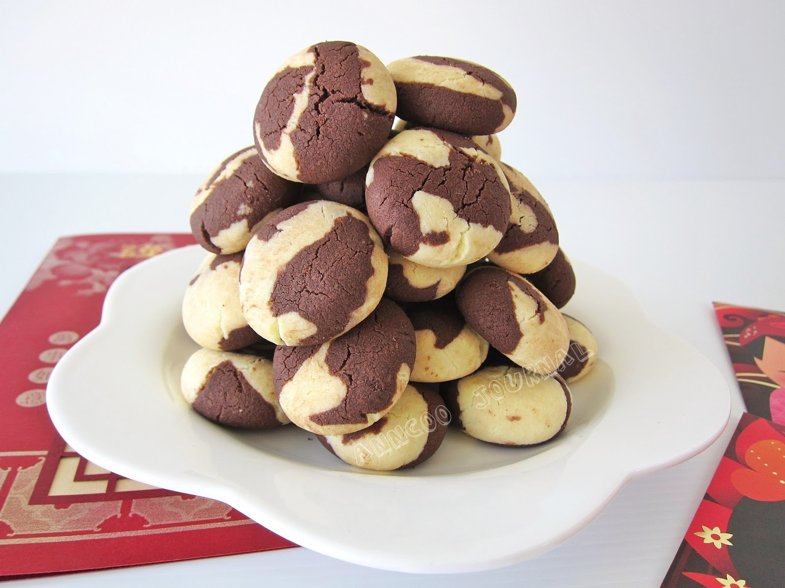 Chocolate Marble Cookies Recipe — Dishmaps