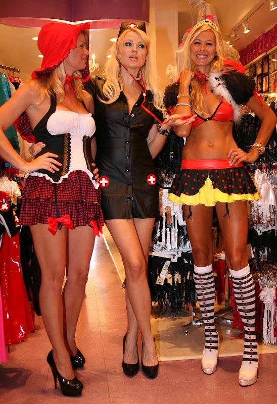 Irina Voronina, Brooke Taylor And Jesse Golden In Hot Halloween Costumes