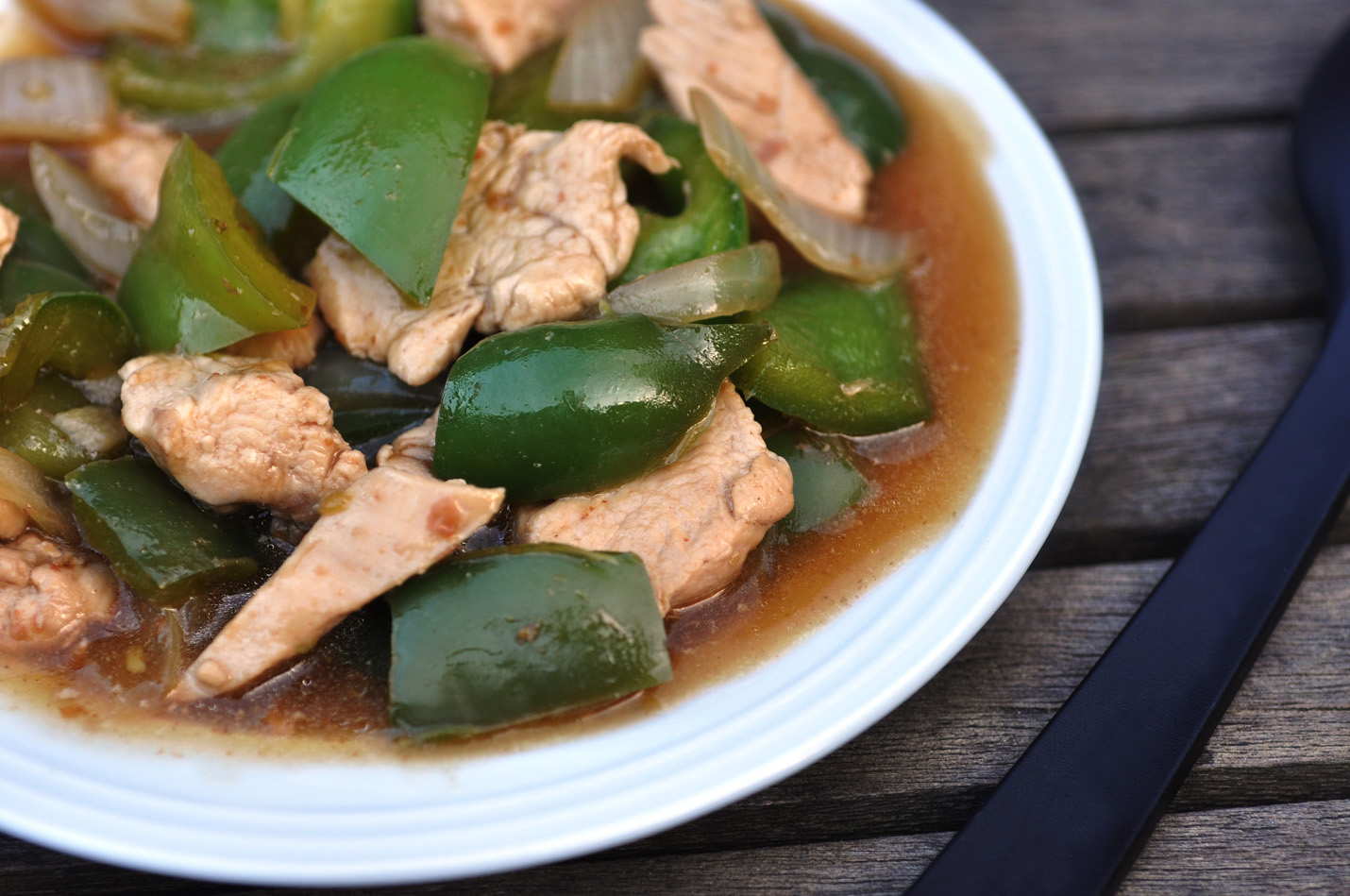 Anja's Food 4 Thought: Chicken Green Pepper Stir Fry