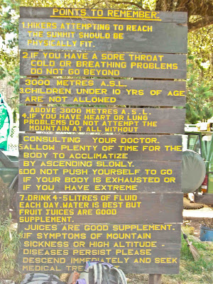 Rules for climbing Kilimanjaro