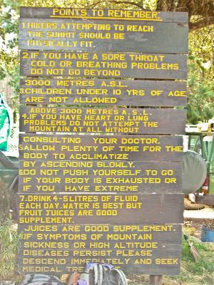 Rules for climbing Kilimanjaro