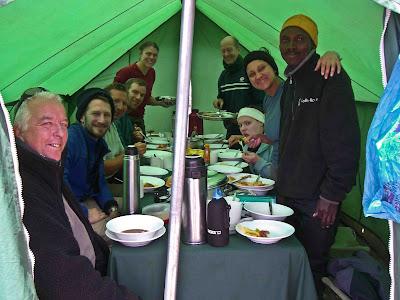 Dinner time on Kilimanjaro