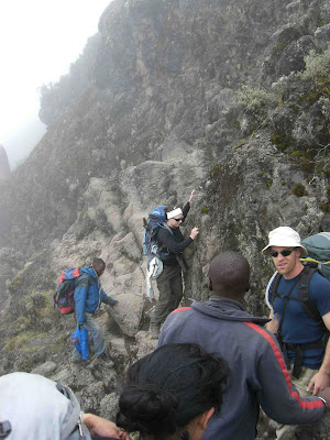Climbing the Barranco Wall