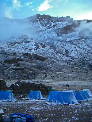 Lava Tower Camp after snow