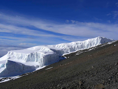 Glaciers close to Uhuru on Kilimanjaro