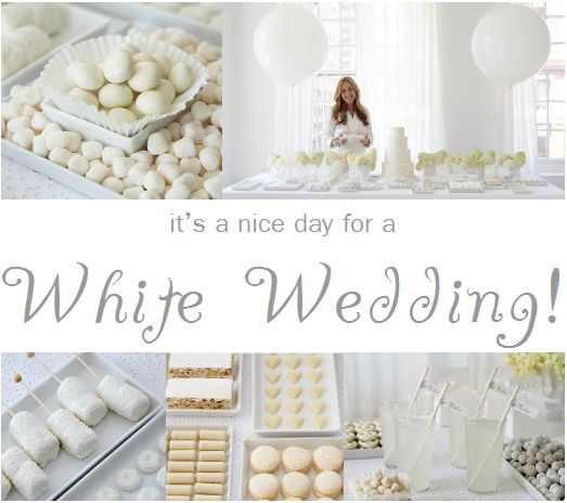 white wedding party