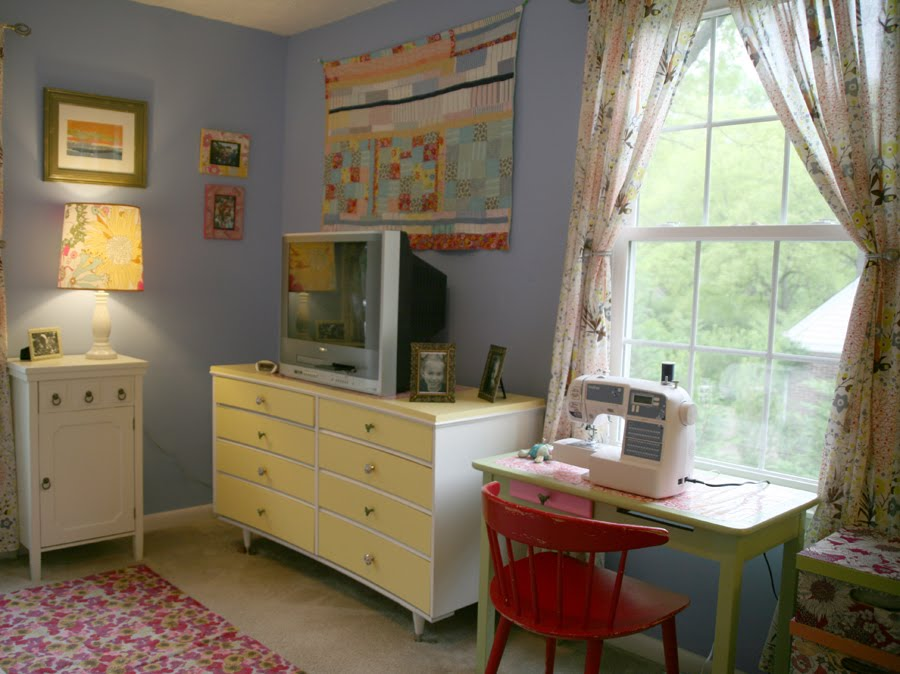 Green Bag Lady Sewing Room Redo After