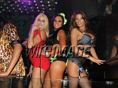 Adult Film Stars Gina Lynn, Audrey Bitoni and Madelyn Marie (L-R) Photo by ...